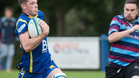 Ollie Raine bagged two tries for St Ives. Picture: PAUL COX