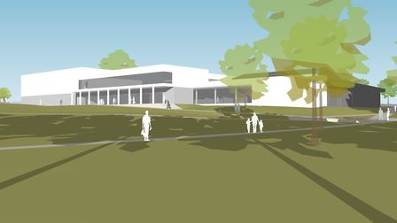 Concept designs for the new arts and leisure centres in Harpenden. Photo: SADC