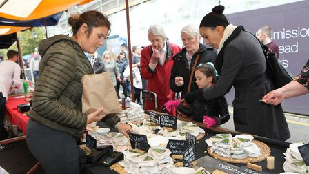 The cheese stall was popular at the St Albans Food and Drink Festival 2017Picture: Craig Shepheard