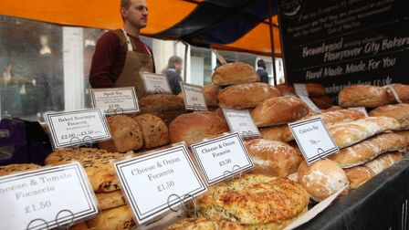 A close up of bread being sold at the St Albans Food and Drink Festival 2017Picture: Craig Shephea