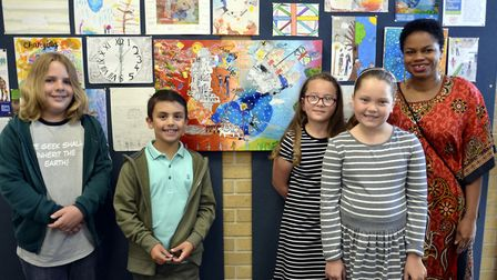 Some of the 2017 competition winners - Leo Girling, 11, Grace Bonley and Perdy Brooks, nine, and eig