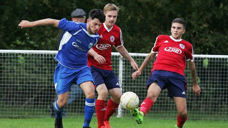 Paolo Montella in action for London Colney. Picture: KARYN HADDON