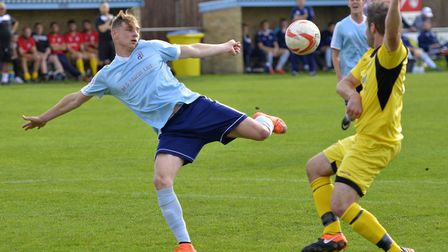 Ben Yeomans hit the only goal in Godmanchester Rovers' victory against Raunds Town in the FA Vase. P
