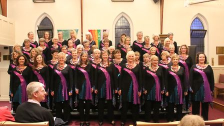 The Phoenix Chorus were one of the first acts to perform at the Royston Arts Festival in a concert b