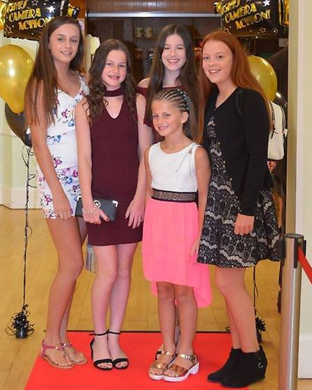 Stage Right Studio youngsters on the red carpet at the Royston Picture Palace. Picture: Kerry Hay