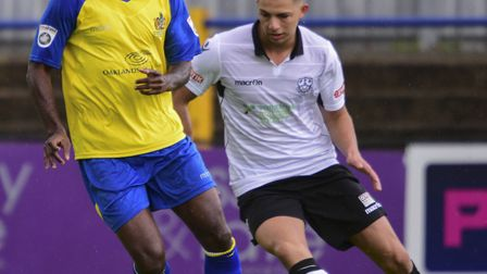 Rhys Murrell-Williamson had fired St Albans City into the lead at East Thurrock United. Picture: BOB
