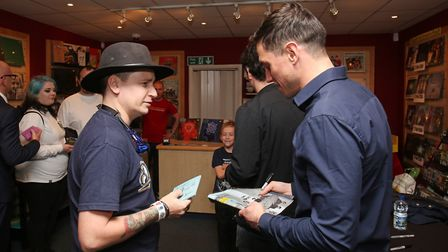 St Albans band Enter Shikari sign their new album The Spark for fans at Empire Records. Picture: Dan