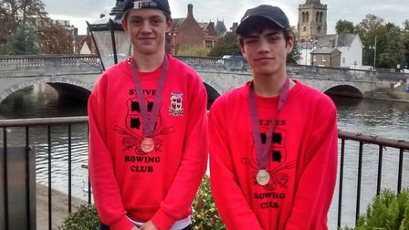 Sam Hasted and Rory Crouch of St Ives Rowing Club.
