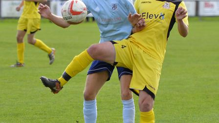Jack Chandler (left) has scored three times in two games for Godmanchester Rovers. Picture: DUNCAN L