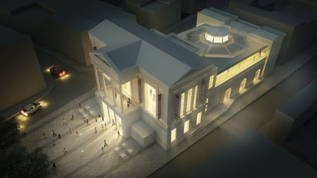 An image of the yet to be completed St Albans museum and gallery. Photo supplied by St Albans counci