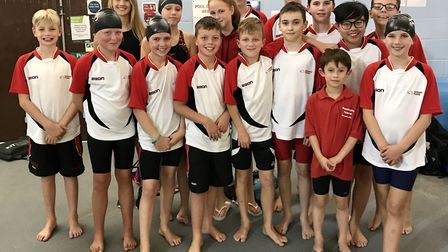 The Huntingdon Piranhas squad which competed in the Junior Fenland League 'B' Final.