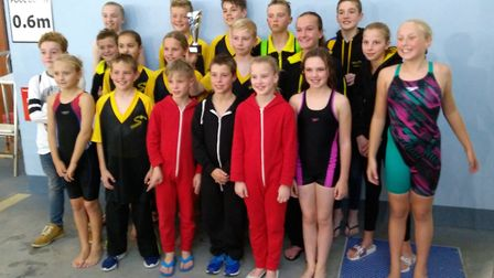The First Strokes Godmanchester swimmers who took part in the 'B' Final.