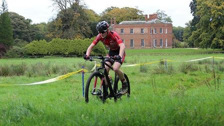 Sam Trotter of St Ives Cycling Club on his way to victory.