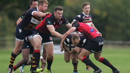 Tom Bednall scored twice for Old Albanian as they shocked National One leaders Darlington Mowden Par