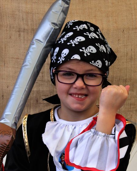 Daisy Collen on Pirate Day. Picture: Clive Porter