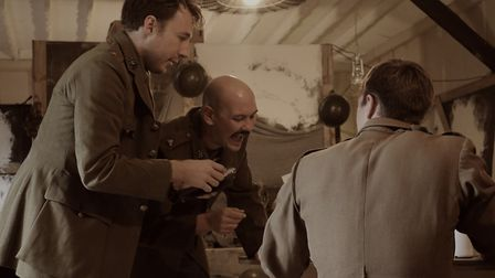 Dan Dawes, Terry Burns and Tom Kay in Journey's End [Picture: Josh MacMillan]