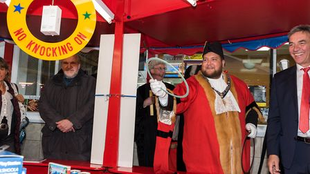 The Michaelmas Fair in St Ives. Visiting are a delegation from Stadtallendorf, which is twinned with