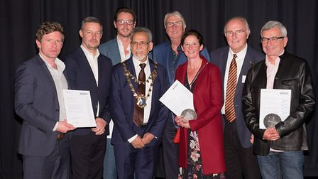 Mayor of St Albans, Mohammad Iqbal Zia, pictured with the winners