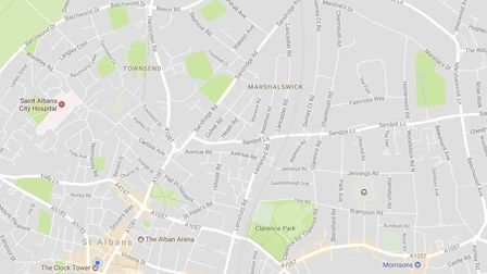 The four sought-after roads are clustered together, north-east of the city centre (Google Maps)