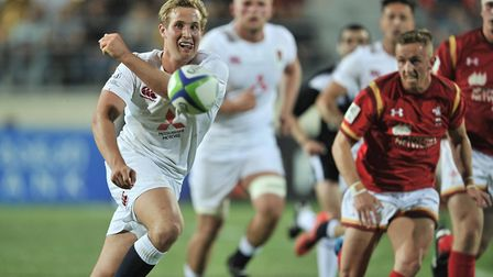 Former Old Albanian Max Malins will stay at Saracens for another two years. Picture: TAMUNA KULUMBEG