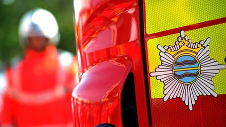 Firefighters were called to a blaze on the A414 this morning. Picture: Supplied