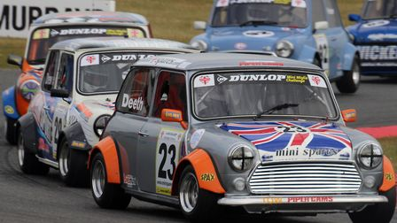 Rupert Deeth leading his rivals during a Mini Miglia Championship race. Picture: GARY MALKIN