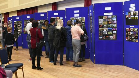 Hundreds of people stopped by at the Priory Centre to view the exhibition.