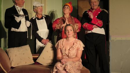 Offord Players in dress rehersal