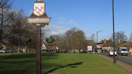 Harpenden Town sign. Photo: DANNY LOO