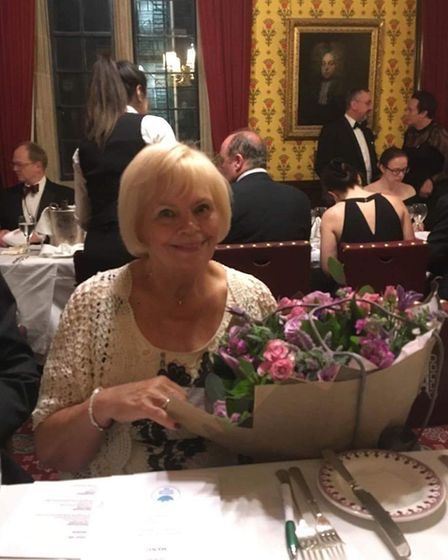 CHARITY: Shirley Chapman with her flowers