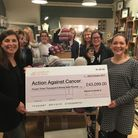 Raindrops on Roses donated £43,099 to Action Against Cancer.