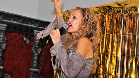 Jayne Downes was not only the ghost walk writer and guide for the festival but live singer at the hu