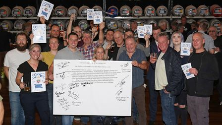 St Albans pub landlords sign an open letter to the chancellor of the exchequer. Picture: Danny Loo