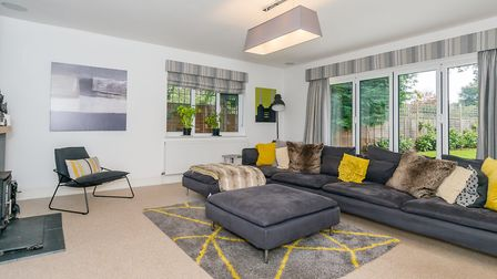 The family room opens out onto the garden