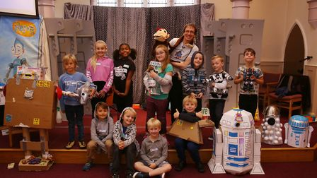 Some of the children at the Razzamatazz Robots Holiday Club. Picture: Danny Loo