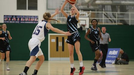 Krisztina Nagy landed a buzzer-beating three-pointer as Oaklands Wolves woin in the WBBL Cup. Pictur