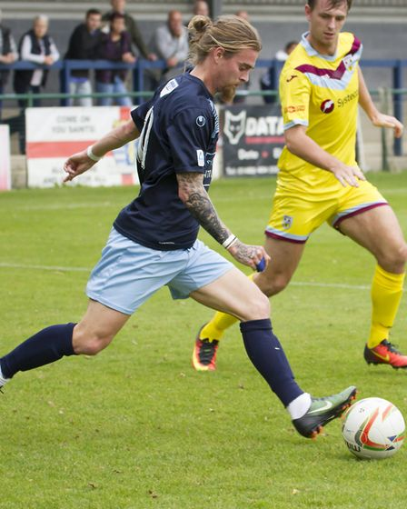 Scott Sinclair went off injured in the victory at Gosport Borough. Picture: CLAIRE HOWES