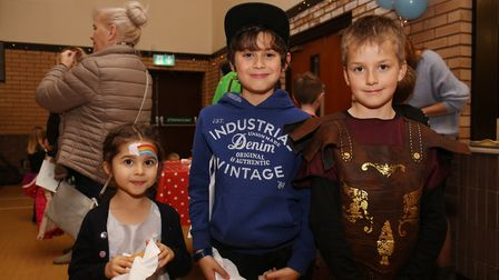 Children in fancy dress at The Light Party organised by volunteers from Churches Together in Royston