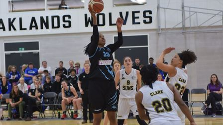 Rachel Morris led the way in points and rebounds for Oaklands Wolves against Leicester Riders. Pictu
