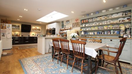 The 30ft kitchen/dining/family room opens out onto the garden
