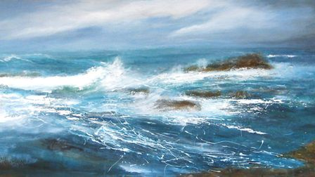 Cuan Mor, an acrylic painting by Judith Moule