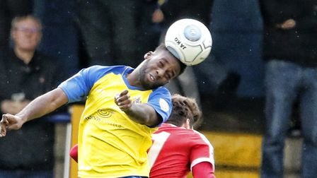 Rhys Murrell-Williamson in action against Welling United. Picture: LEIGH PAGE