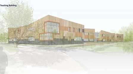 Plans for the general teaching building