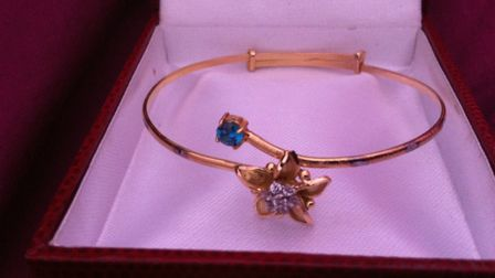 Jewellery which was stolen in the London Colney burglary.