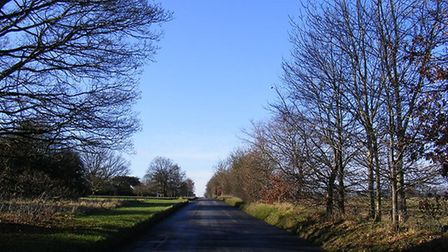 One of the roads that run through the common, near Harpenden and Kinsbourne Green