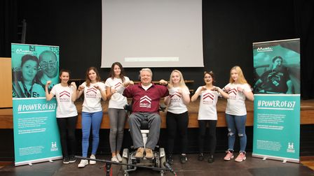 Freman College held a special assembly with Michael McGrath of The Muscle Help Foundation.