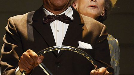 Sian Phillips and Derek Griffiths are in Driving Miss Daisy at Cambridge Arts Theatre. Picture: NOBB