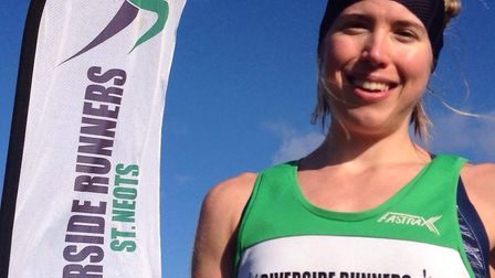 Jess Williams of Riverside Runners was the first female finisher in the senior race at the second ro
