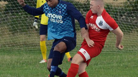 Danny Cain scored twice for Brampton in their big win at Sawston United.