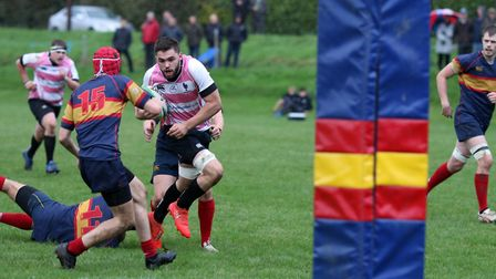 George Attfield scored one of the 13 tries for Harpenden against Hackney. Picture: KEVIN LINES